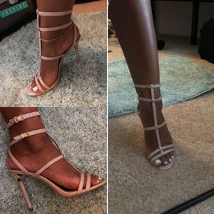 Cute, strappy Aldo heels - Size 8 bone color